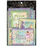 Graphic 45 Fairie Wings - Ephemera and Journaling Cards (16) 4x6. (16) 3x4