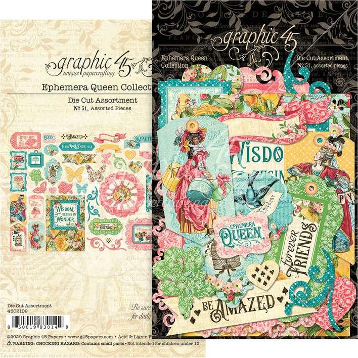 Graphic 45 Ephemera Queen - Cardstock Die-Cut Assortment
