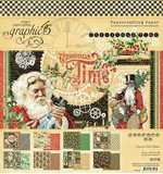SO: Graphic 45 Christmas Time - 8x8 Double-Sided Paper Pad, 24pk