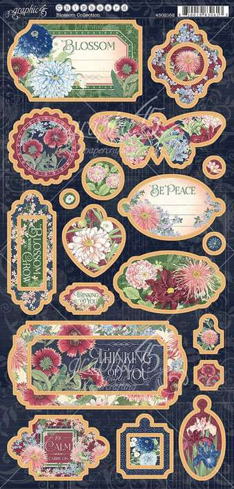 Graphic 45 Blossom - 6x12 Chipboard Die-Cuts Sheet