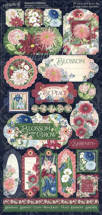 Graphic 45 Blossom - 12x12 Cardstock Stickers