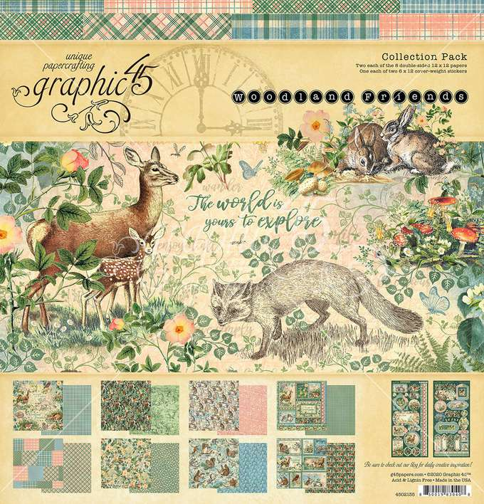 SO: Graphic 45 Woodland Friends - 12 x 12 Collection Pack