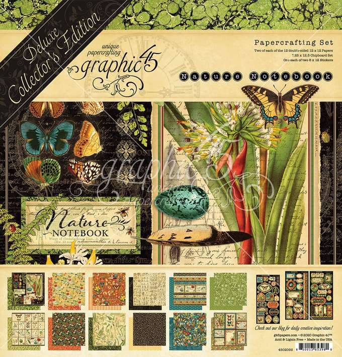 Graphic 45 Natures Notebook Deluxe Collectors Edition Pack 12x12