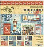 SO: Graphic 45 Catch of the Day - 8x8 Double-Sided Paper Pad, 24pk