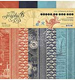 SO: Graphic 45 Catch of the Day - 12 x 12 Double-Sided Paper Pad, 16pk