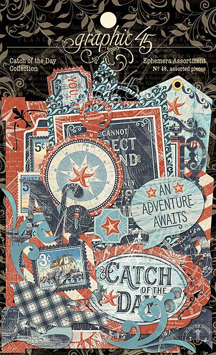 Graphic 45 Catch of the Day - Cardstock Die-Cut Assortment