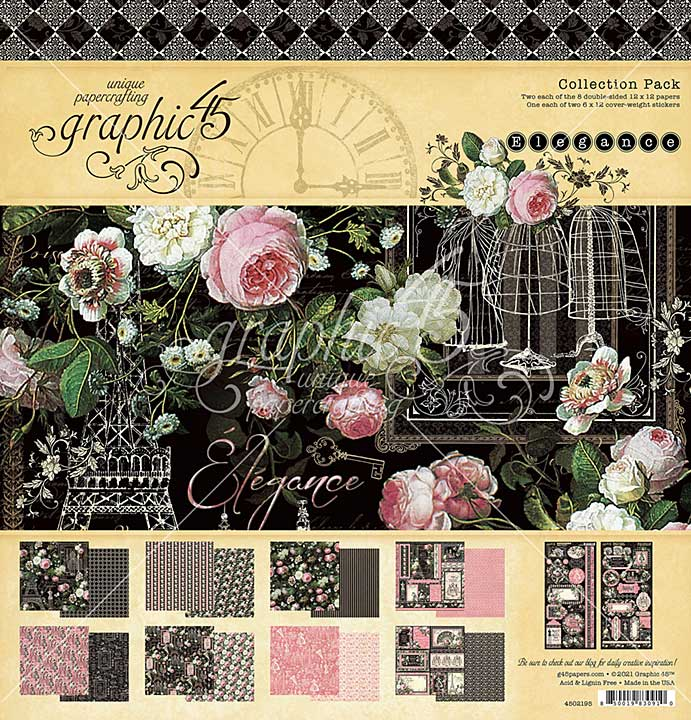 Graphic 45 Elegance - 12 x 12 Collection Pack