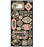 Graphic 45 Elegance - 6x12 Chipboard Die-Cuts Sheet