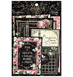 Graphic 45 Elegance - Ephemera and Journaling Cards (16) 4x6 (16) 3x4