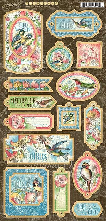 Graphic 45 Bird Watcher - 6x12 Chipboard Die-Cuts Sheet