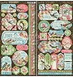 Graphic 45 Bird Watcher - 12x12 Cardstock Stickers