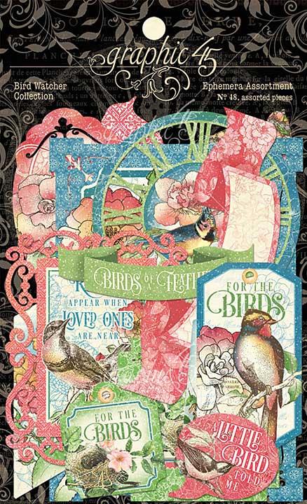 Graphic 45 Bird Watcher - Cardstock Die-Cut Assortment