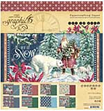 Graphic 45 Let It Snow - 8x8 Double-Sided Paper Pad, 24pk