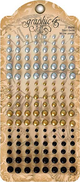 SO: Graphic 45 Staples Pearl Gems 144pk - Matte Finish