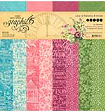 Graphic 45 Bloom 12x12 Double-Sided Paper Pad 16pk (8 Designs 2 each)