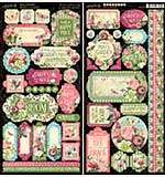 SO: Graphic 45 Bloom Cardstock Stickers 12x12
