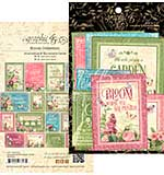 SO: Graphic 45 Bloom Ephemera Cards 32pk (16 4x6 and 16 3x4)