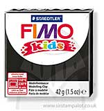 Fimo Kids Oven Hardening Modelling Clay 42g - Black