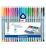 Staedtler 20 Triplus Fineliner Coloured Pens (0.3mm) Brilliant Colours