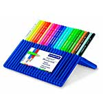 SO: Staedtler Ergosoft 24 Triangular Coloured Pencils - Crayons in Platic Case