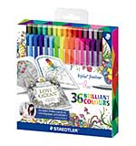 SO: Staedtler Triplus Fineliner, Exclusive Johanna Basford Edition - 36 Assorted Colours