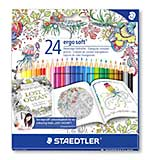 Staedtler Ergosoft Colouring Pencils, Exclusive Johanna Basford Edition - 24 Assorted Colours