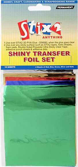 Stix 2 - Shiny Decorative Transfer Foil - Set #3 (10PK)
