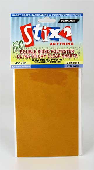 SO: Stix 2 - Ultra Sticky Clear Sheets (4 x 6 inch)