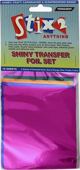 Stix 2 - Shiny Decorative Transfer Foil - Set #5 (10PK)