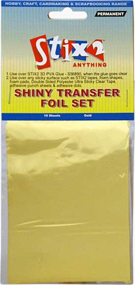 SO: Stix 2 - Shiny Decorative Transfer Foil - Gold (10PK)