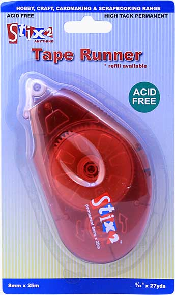 Stix 2 - Tape Runner 8mm x 25m Red