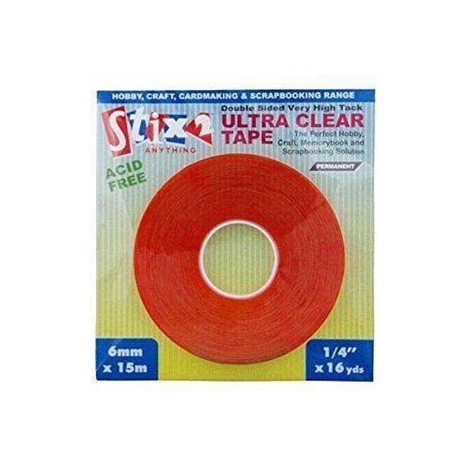 SO: Ultra Clear Double Sided Tape (6mm x 15m) - Very High Tac - Permanent