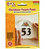 Outdoor Foam Pads Permanent (Single Pack of 20mm x 20mm 132 Pads)