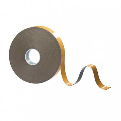 Jumbo Roll of Double Sided Black Foam Tape 1mm x 50m