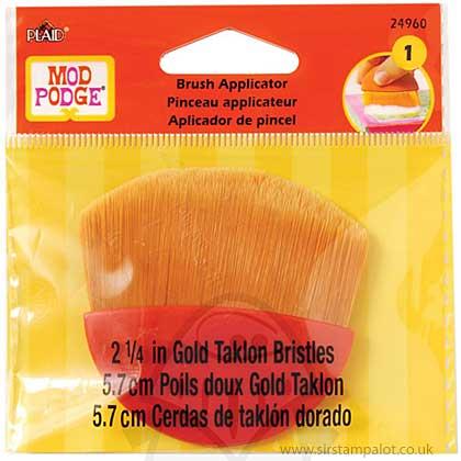 Mod Podge Brush Applicator 2.25inch in Gold Taklon Bristles