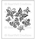 SO: Cling Rubber Stamp Set 4.75x7.5 - Butterfly Medley