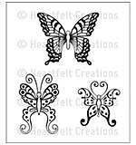 Cling Rubber Stamp Set 4.75x7.5 - Botanical Wings