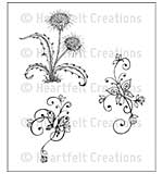 Cling Rubber Stamp Set 4.75x7.5 - Botanical Swirls