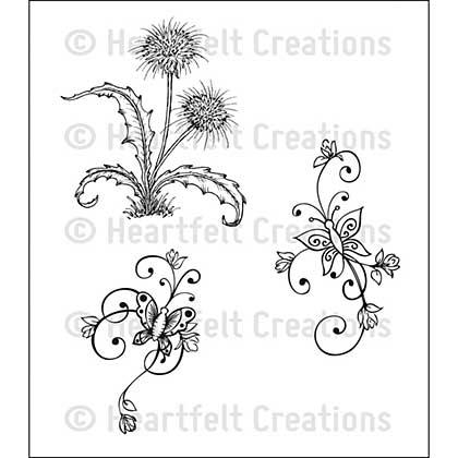 SO: Cling Rubber Stamp Set 4.75x7.5 - Botanical Swirls