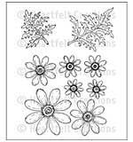 Heartfelt Creations Cling Rubber Stamp Set 5x7.75 - Delightful Daisies