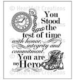 Heartfelt Creations Cling Rubber Stamp Set 5x6.5 - My Hero (ED15)