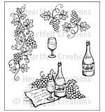 Heartfelt Creations Cling Rubber Stamp Set 5x6.5 - Italiana Grape Clusters