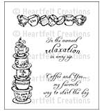 Heartfelt Creations Cling Rubber Stamp Set 5x6.5 - All Stacked Up