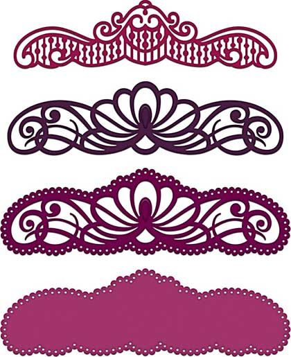 Heartfelt Creations Cut and Emboss Dies - Regal Borders and Pockets
