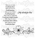 Heartfelt Creations Cling Rubber Stamp Set 5x6.5 - Sunrise Lily Wishes (SL16)