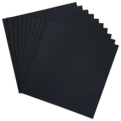 Heartfelt Creations - Black Cardstock 12x12 (10 pack)