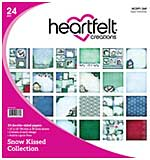 Heartfelt Creations Double-Sided Paper Pad 12x12 24pk - Snow Kissed, 12 Designs, 2 Each (SK16)