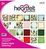 SO: Heartfelt Creations Double-Sided Paper Pad - Festive Holly (12X12 24pk)