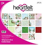 SO: Heartfelt Creations - Winters Eve Double-Sided Paper Pad 12X12, 24pk