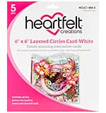 SO: Heartfelt Creations Layered Card - 6X6 White with Circles